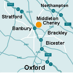 Middleton Cheney, Northamptonshire and Oxfordshire